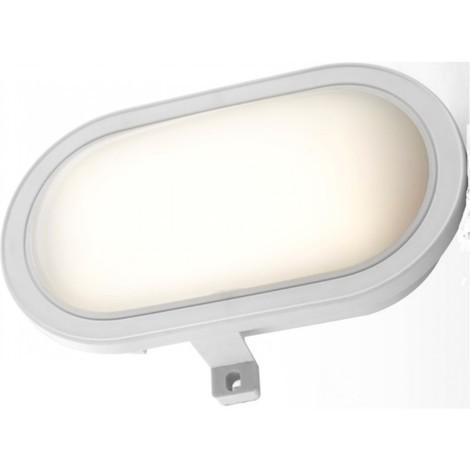 Aplique ilumin ov ext 10w 4500k 750lm ip44 polic bl estanco