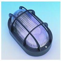 Aplique ilumin ov ext e27 60w pvc ne rej/plas fenoplastica
