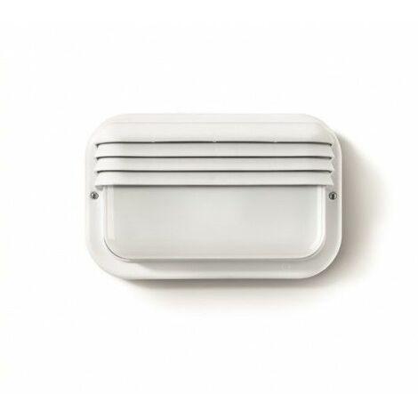 Aplique Iluminacion Horizontal Exterior E27 18W Ip44 Pvc Blanco Famat