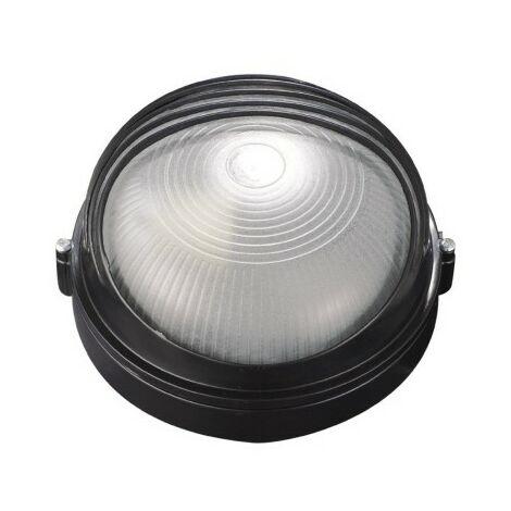 Aplique Iluminacion Redondo Exterior E27 17X18Cm Aluminio Negro Aretusa Chiarodilu