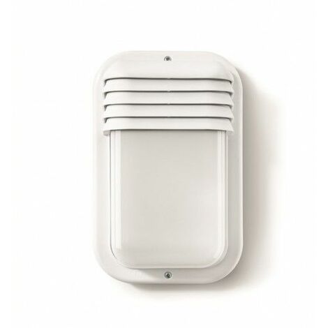 Aplique Iluminacion Vertical Exterior E27 18W Ip44 Pvc Blanco Famat
