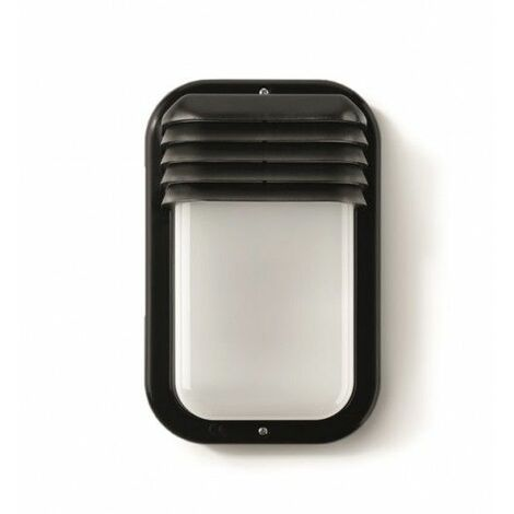 Aplique Iluminacion Vertical Exterior E27 18W Ip44 Pvc Negro Famat