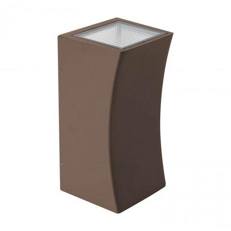 Aplique jardin 2*5W LED Aluminio marrón óxido