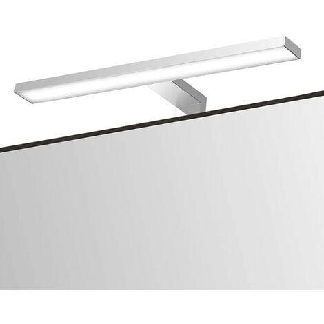 Aplique LED 30cm Basico. Colocación en espejo o mueble de baño. Potencia 8W con 27 LED 6000K. Tipo de luz blanca fría Kibath