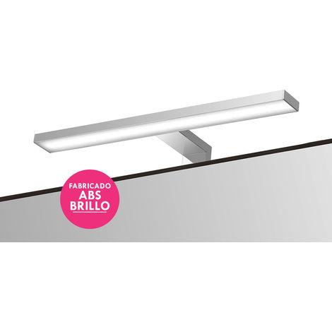 Aplique LED 30cm para espejo o mueble de baño, Lámpara para Espejo o mueble de baño LED 6000K para Apliques Baño, Instalación en mueble o espejo de baño. Tipo de luz blanca fría. Kibath