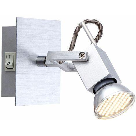 Aplique LED ALU spotlight living dormitorio iluminación spot ajustable Globo 57870-1