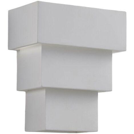 Aplique LED Antonella de gran efecto, escayola