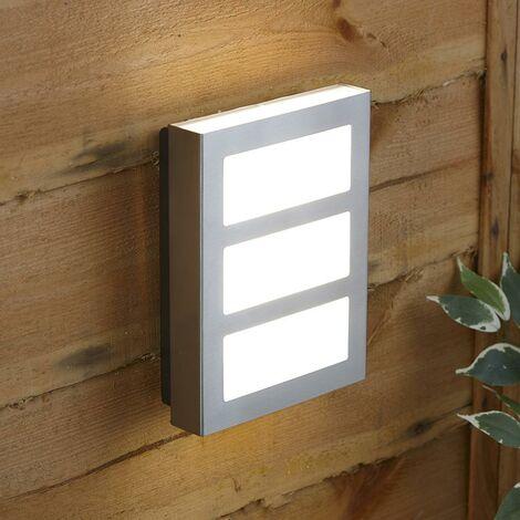 Aplique LED Biard Sorby de Acero Inoxidable para Jardín - Moderno Impermeable