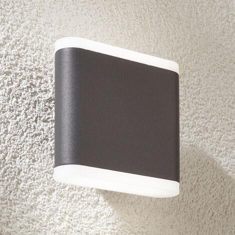 Aplique LED de exterior Vaiana en gris oscuro