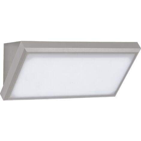 Aplique LED de pared Serie Angular 20W 110° IP65 Gris Temperatura de color - 4000K Blanco natural