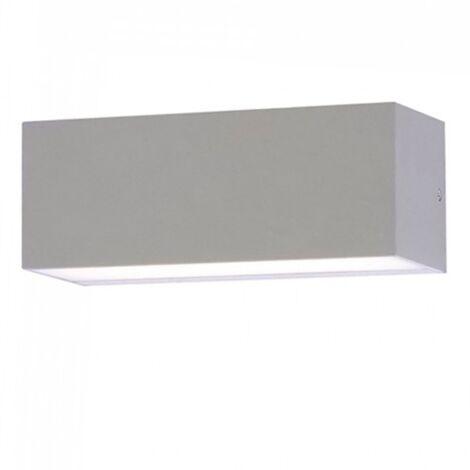 Aplique LED de pared Serie Geometric Rectangular 12W 92° IP65 Gris