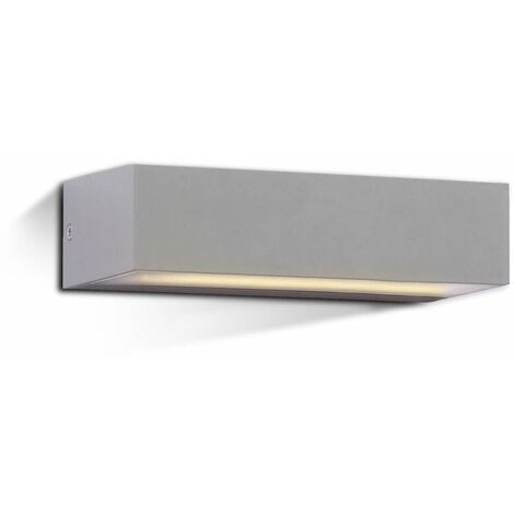 Aplique LED de pared Serie Geometric Rectangular 9W 90° IP65 Gris