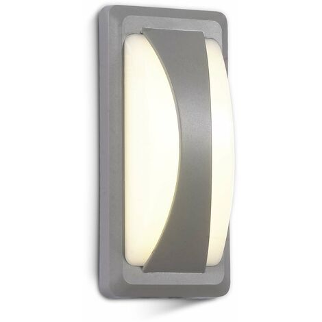 Aplique LED de pared Serie Special Original 12W 130° IP65 Gris Temperatura de color - 3000K Blanco cálido