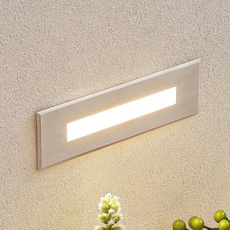 Aplique LED empotrado Doga acero inoxidable 19,5cm