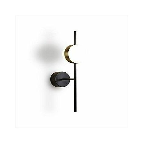 Aplique led en oro satinado metal negro Cuba 8w