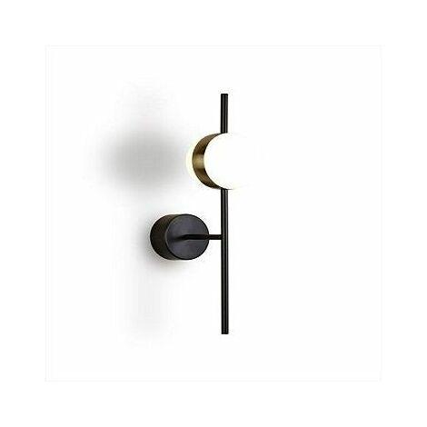 Aplique led en oro satinado metal negro Cuba 8w