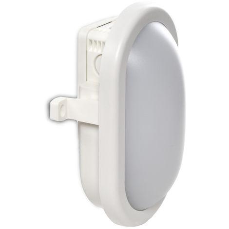 Aplique LED IP54 10W 700Lm 40000H Oval Blanco | Blanco Frío (RU-1678-CW)