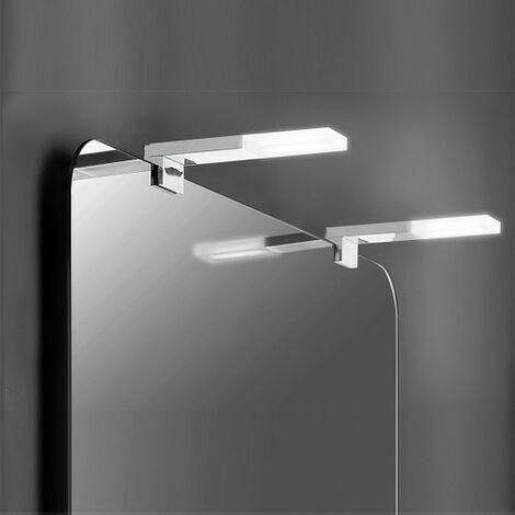 Aplique LED para espejo de baño, 40 mm, IP44, Luz blanca fría, Aluminio y plástico, Cromado