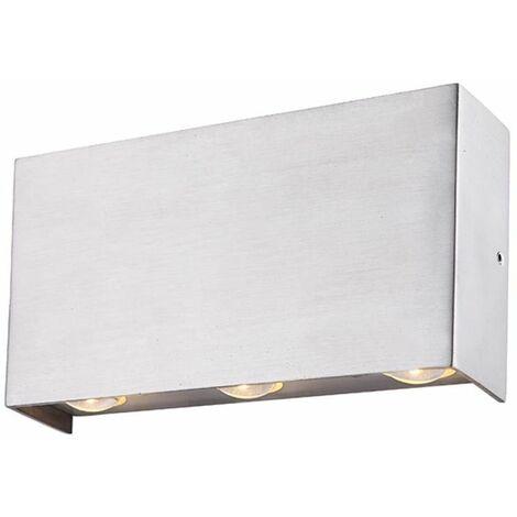 Aplique LED para exterior, aplique para terraza, lámpara ALU, iluminación de vidrio Globo 34177-6