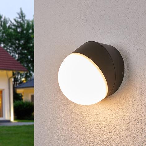 Aplique LED para exterior Fjodor, forma circular