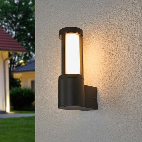 Aplique LED para exterior Sidny, gris oscuro