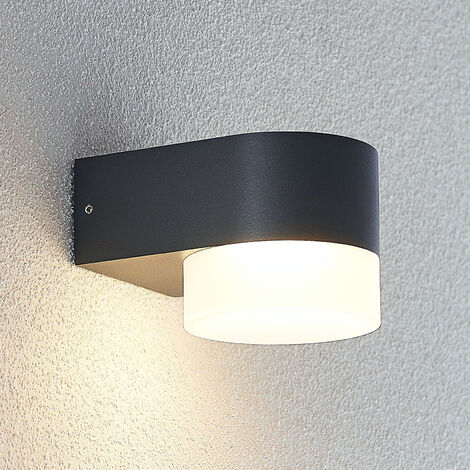 Aplique LED para exterior Tiana, gris oscuro