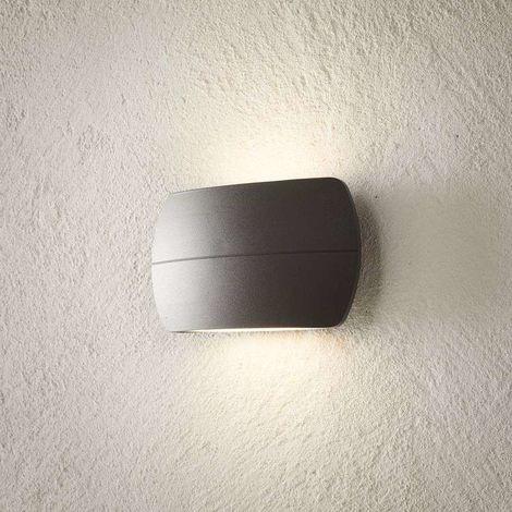 Aplique LED para exterior Viktoria, gris oscuro