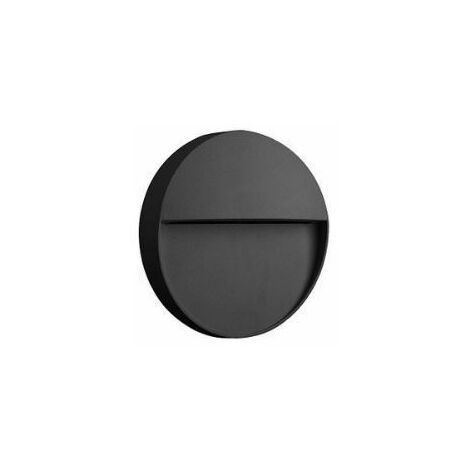 Aplique led pared de exterior circular Baker de Mantra   ø11cm   Gris oscuro