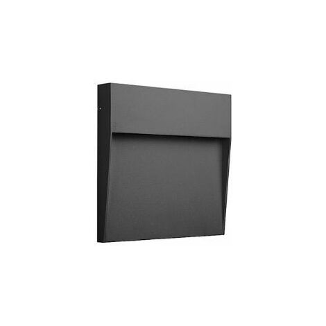 Aplique led pared de exterior cuadrado Baker Mantra   Pequeño   Gris oscuro