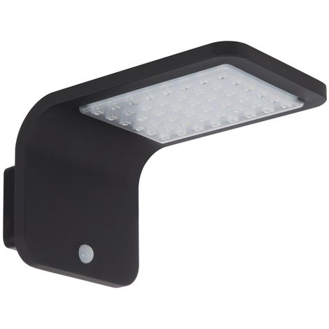 Aplique LED Solar Brasil con Detector de Movimiento PIR IP65