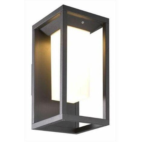 Aplique led solar de exterior grafito luz 3000k