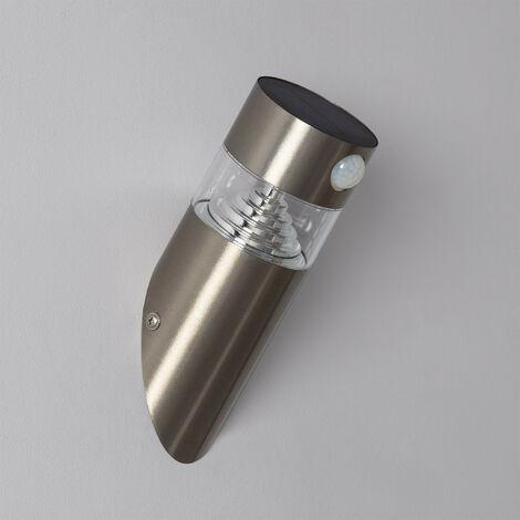 Aplique LED Solar Inti Inox con Detector de Movimiento PIR
