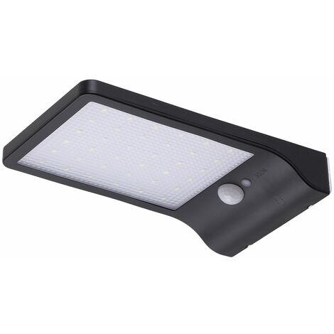 Aplique LED Solar IP65 36x2835SMD Sensor Luz + Movimiento Soporte   Blanco Frío (PL-626018-CW)