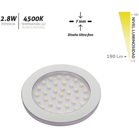Aplique LED superficie ultrafino 2,8W 4500k 12v