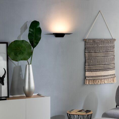 Aplique LED Trivia 9W Negro Blanco Cálido 2800K - 3200K