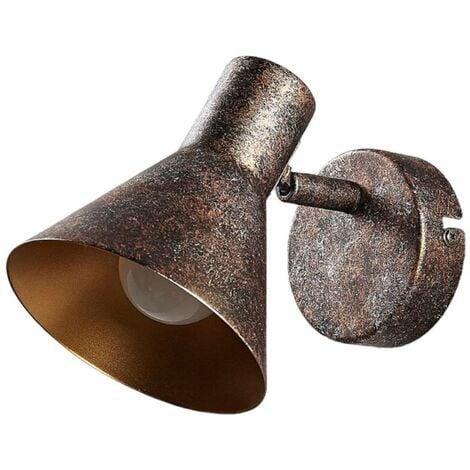 Aplique LED Zera rojizo, interior dorado