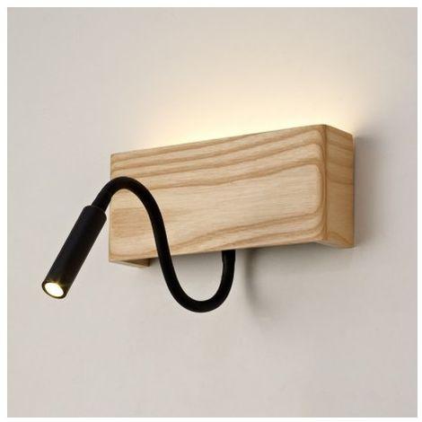APLIQUE MADERA RAVEL LED + USB Color madera