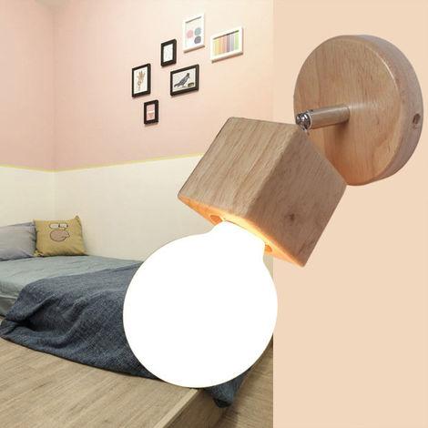 Aplique Moderno Cubo Minimalista ?10cm Simple Base Redonda Creativo Madera Maciza Ajustable LED Luz Lavado Estudio Pasillo Entrada bano