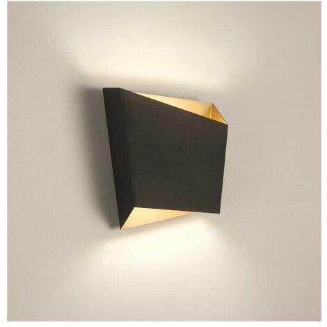Aplique negro-oro 1 luz ASIMETRIC de Mantra