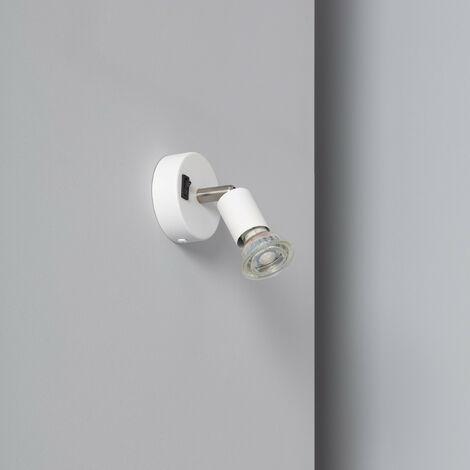 Aplique Orientable Oasis 1 Foco Blanco con Interruptor Blanco