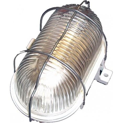 Aplique ilumin ov ext e27 60w pvc bl rej/met fenoplastica