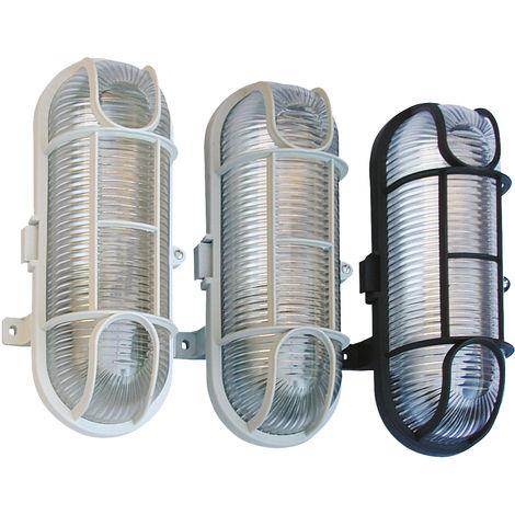Aplique oval con rejilla protectora. IP 44 SOLERA 1001B