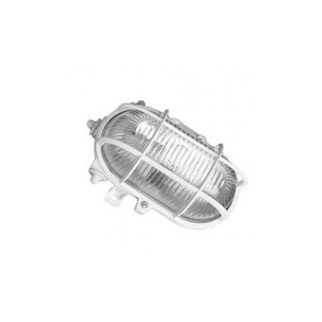 Aplique ovalado exterior PVC E27 60W 230V Blanco GSC 0700152