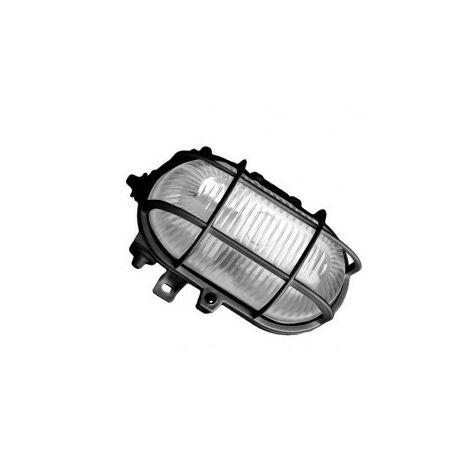 Aplique ovalado exterior PVC E27 60W 230V Negro GSC 0700153
