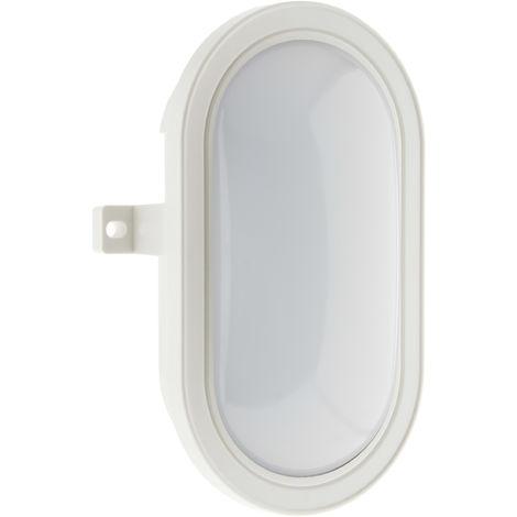 Aplique ovalado LED 5,5W 450lm 4000k IP44 Blanco - Elexity