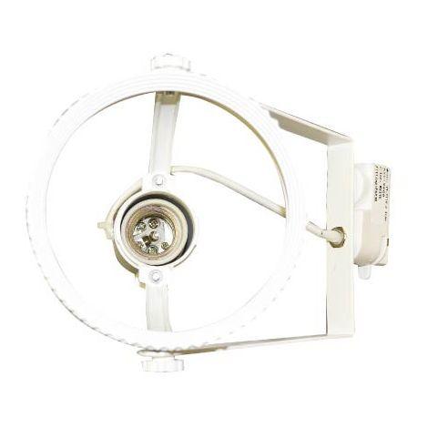 Aplique para bombilla LED PAR38 Blanco para carril de 2 Núcleos