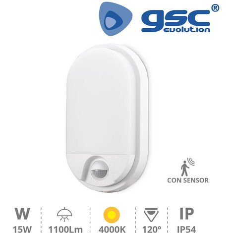 Aplique pared con sensor Barron 15W 4200K Blanco