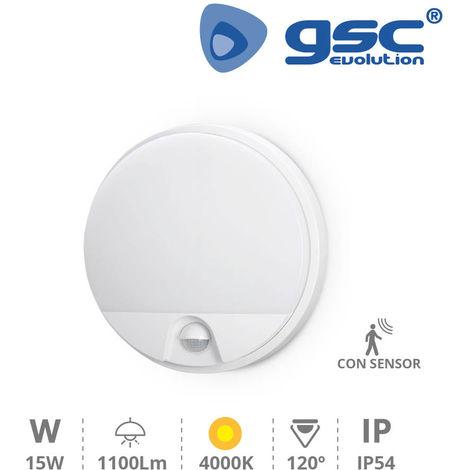 Aplique pared con sensor Detian 15W 4200K Blanco