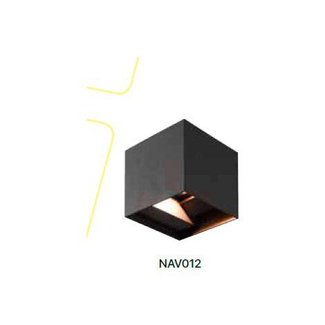Aplique pared exterior decorativo cubo 10W led blanco/negro | Negro - 0