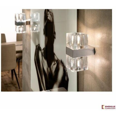 Aplique pared led de cristal Cubic